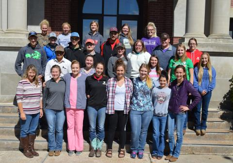 Aggie students represent 16 campus groups for the NCTA Student Senate. (Crawford/NCTA News photo)
