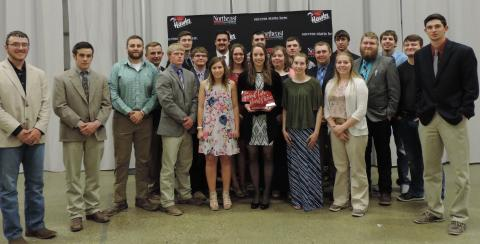 The Nebraska College of Technical Agriculture at Curtis is 2018 Reserve Champion Two-year College in the sweepstakes of 13 contests at the North American Colleges and Teachers of Agriculture conference in Norfolk, Nebraska April 19-21. (Photo by Mary Pat Hoag)