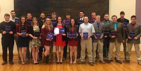 Twenty students from the Nebraska College of Technical Agriculture won Reserve Champion Sweepstakes for two-year colleges at a national contest April 6-8.. (NCTA Photo)