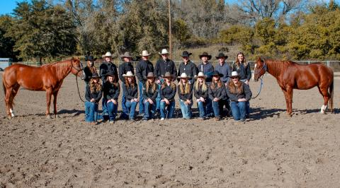 NCTA Aggie Rodeo Club includes competitive athletes on the traveling team and supporting members. They compete in Ames, Iowa this weekend. (Photo by Tori Rossenbach)