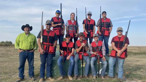 The NCTA Shotgun Sports Team is this week's feature in the Aggie Club Highlight. The club's Sporting Clays event for the public is Saturday. (Bassett / NCTA News photo)