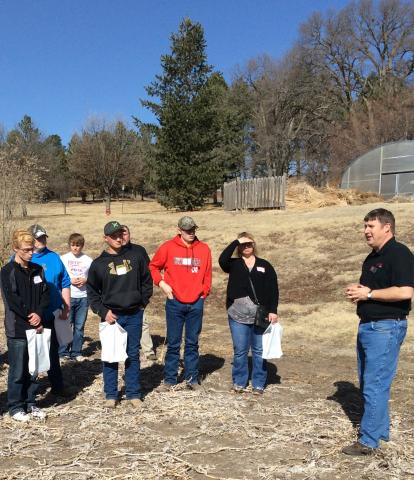 NCTA Agronomy Professor Brad Ramsdale leads a student tour this spring. (NCTA file photo)
