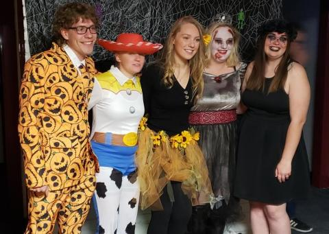 Student Technicians of Veterinary Medicine Association members celebrate at an NCTA Halloween dance in 2019. Costumes are encouraged for Thursday's Fun Run in Curtis. (Photo by STVMA Club)