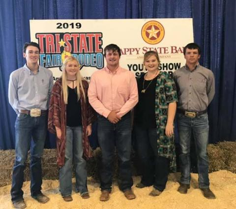 NCTA Livestock Judging team members, from left, Garrett Lapp, Emily Riley, Seth Racicky, Maisie Kennicutt, and Camden Wilke. (NCTA Photo)