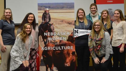 Aggie students from the Nebraska College of Technical Agriculture enjoyed networking at the 2019 Women in Ag Conference. (NCTA News)