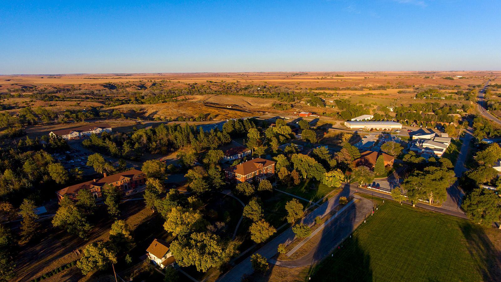 NCTA campus aerial view